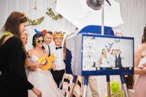 Elegantná modrá Fotobúdka na svadbu ❤️ Fotokutik svadba